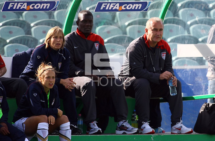 USA coach Kazbek Tambi..FIFA U17 Women's World Cup, USA v France, Albany Stadium, Auckland, New Zealand, Wednesday 5 November 2008. Photo: Renee McKay/PHOTOSPORT