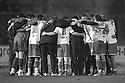 Stevenage players victory huddle. - Stevenage v Milton Keynes Dons - npower League 1 - Lamex Stadium, Stevenage - 24th January 2012. © Kevin Coleman 2012
