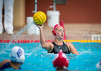 STANFORD, CA - April 20, 2019: Kat Klass at Avery Aquatic Center. The #1 Stanford Cardinal took down the #20 San Jose State Spartans 22-4.