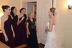 A Scarsdale bride getting ready at home.