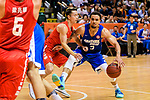 Marcus Ryan Elliott #2 of Eastern Long Lions handles the ball against the SCAA during the Hong Kong Basketball League playoff game between Eastern Long Lions and SCAA at Queen Elizabeth Stadium on July 24, 2018 in Hong Kong. Photo by Marcio Rodrigo Machado / Power Sport Images