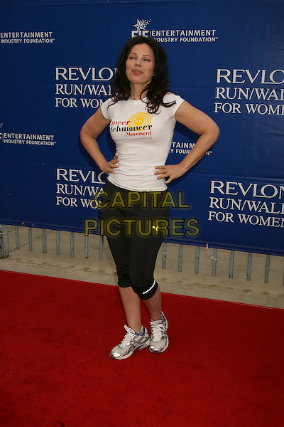 FRAN DRESCHER.14th Annual Entertainment Industry Foundation Revlon Run/Walk For Women held at The Los Angeles Memorial Coliseum, Los Angeles, California, USA,.12 May 2007..full length trainers hands on hips funny sporty black white .CAP/ADM/RE.©Russ Elliot/AdMedia/Capital Pictures.