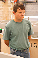 "The manager of the fish farm breeding sturgeons  ""Caviar et Prestige"" Saint Sulpice et Cameyrac  Entre-deux-Mers  Bordeaux Gironde Aquitaine France - at Caviar et Prestige"