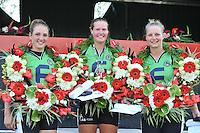 KAATSEN: WEIDUM: 21-08-2013, Dames PC, winnaars Iris van der Veen, Sjoukje Visser en Manon Scheepstra, ©foto Martin de Jong