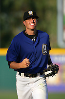 August 9 2009: Clay Fuller of the Rancho Cucamonga Quakes during game against the San Jose Giants at The Epicenter in Rancho Cucamonga,CA.  Photo by Larry Goren/Four Seam Images