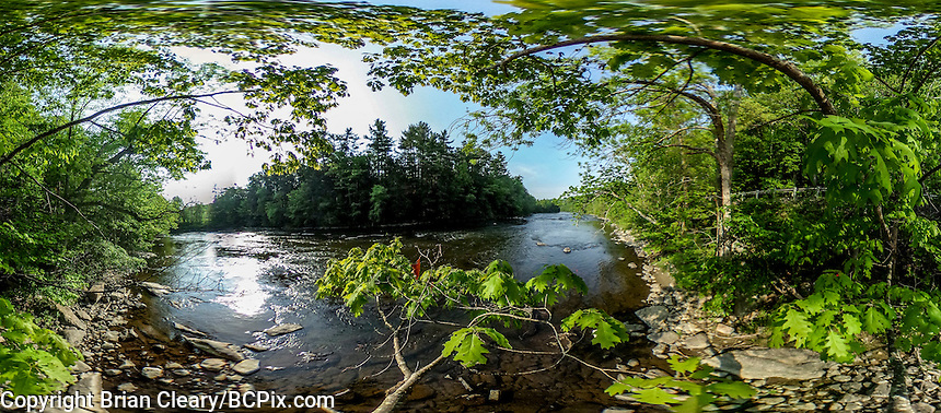 360 degree view of the Housatonic River near Lakeville, CT taken with a Ricoh Theta S 360 degree camera on May 27, 2016.  (Photo by Brian Cleary/BCPix.com)