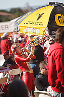 STANFORD,CA-- November 23, 2013: Band members plays during Fan Fest before the Stanford vs Cal game Saturday afternoon at Stanford Stadium.<br /> <br /> Stanford won 63-13.