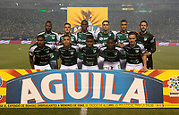 PALMIRA - COLOMBIA, 26-05-2019: Jugadores del Cali posan para una foto previo al partido entre Deportivo Cali y Atlético Nacional por la fecha 4, cuadrangulares semifinales, de la Liga Águila I 2019 jugado en el estadio Deportivo Cali de la ciudad de Palmira. / Players of Cali pose to a photo prior Final second leg match as part Aguila League I 2019 between Deportivo Cali and Atletico Nacional played at Deportivo Cali stadium in Palmira city.  Photo: VizzorImage / Gabriel Aponte / Staff