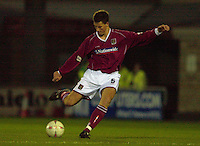 06/12/2003 - Photo  Peter Spurrier.FA Cup 2nd Rd - Northampton v Weston S Mare.Nothampton's Chris Willmott.
