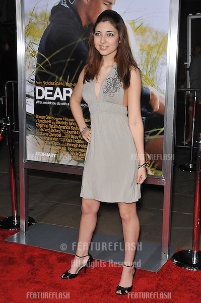 """Shelby Young at the world premiere of """"Dear John"""" at Grauman's Chinese Theatre, Hollywood..February 1, 2010  Los Angeles, CA.Picture: Paul Smith / Featureflash"""