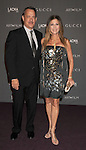 LOS ANGELES, CA - OCTOBER 27: Tom Hanks and Rita Wilson arrive at LACMA Art + Film Gala at LACMA on October 27, 2012 in Los Angeles, California.
