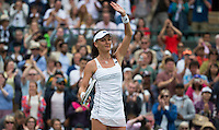 AGNIESZKA RADWANSKA (POL)<br /> <br /> TENNIS - THE CHAMPIONSHIPS - <br /> WIMBLEDON 2015 -  LONDON - ENGLAND - UNITED KINGDOM - ATP, WTA, ITF <br /> <br /> &copy; AMN IMAGES