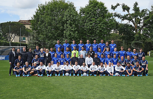 01.06.2016. Coverciano, Florence, Italy. The Italian national football team with reserves and supporting technical team get together for the Euro 2016 tournament