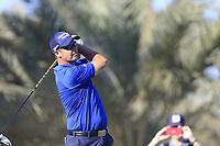 Padraig Harrington (IRL) on the 14th tee during the 2nd round of the Abu Dhabi HSBC Championship, Abu Dhabi Golf Club, Abu Dhabi,  United Arab Emirates. 17/01/2020<br /> Picture: Fran Caffrey   Golffile<br /> <br /> <br /> All photo usage must carry mandatory copyright credit (© Golffile   Fran Caffrey)
