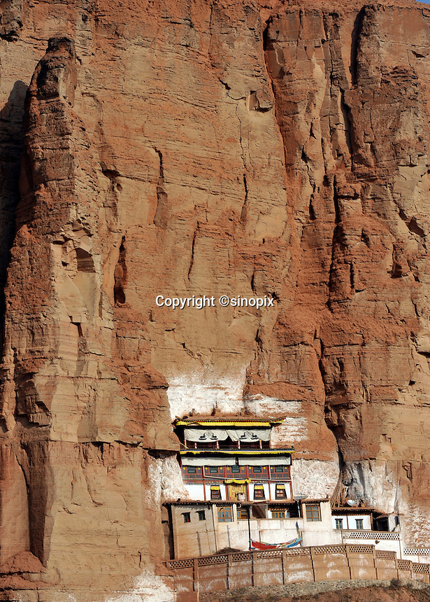 The white Horse Temple near Xining, Qinghai Province 13 November 2008. Qinghai Province in western China borders Tibet and parts were the scenes of disturbance earlier this year, 2008.<br /> <br /> Photo by Richard Jones