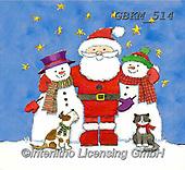Kate, CHRISTMAS SANTA, SNOWMAN, WEIHNACHTSMÄNNER, SCHNEEMÄNNER, PAPÁ NOEL, MUÑECOS DE NIEVE, paintings+++++Christmas page 42,GBKM514,#x#