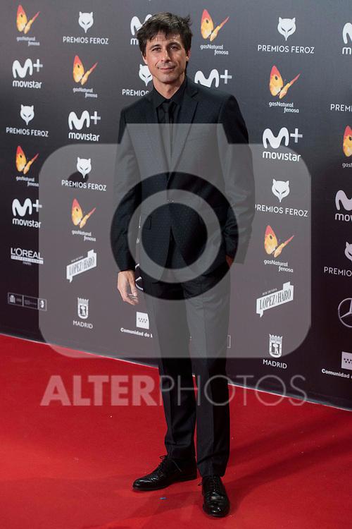 Hugo Silva attends red carpet of Feroz Awards 2018 at Magarinos Complex in Madrid, Spain. January 22, 2018. (ALTERPHOTOS/Borja B.Hojas)