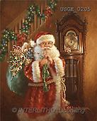 Dona Gelsinger, CHRISTMAS SANTA, SNOWMAN, classical, paintings, santa, clock(USGE0205,#X#) Weihnachtsmänner, Papá Noel, Weihnachten, Navidad, illustrations, pinturas klassisch, clásico