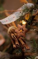 Europe/France/Alsace/68/Haut-Rhin/Ungersheim: Ecomusée d'Alsace détail décoration du sapin de Noël