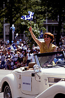 FILE PHOTO -  Louise Deschatelets in the 1993 st-jean-baptiste parade.