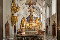 Austria, Tyrol, Stams in Tyrolean Upper Inn Valley: Cistercian Abbey Stams, collegiate church - interior   Oesterreich, Tirol, Stams im Tiroler Oberinntal: Stift Stams, Stiftkirche - innen