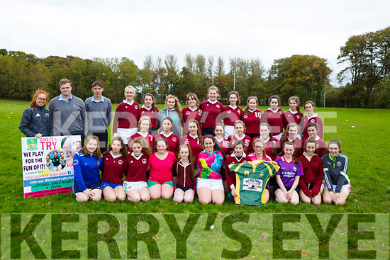 Tarbert Comprehensive School, at the  Kerry Girls Schools Rugby Shields 2017 competition at Listowel Town Park on Tuesday