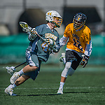 16 April 2016: University of Vermont Catamount Midfielder Connor Van Ryn, a Sophomore from Whitby, Ontario, in action against the University of Maryland, Baltimore County Retrievers at Virtue Field in Burlington, Vermont. The Catamounts defeated the Retrievers 14-10 in NCAA Division I play. Mandatory Credit: Ed Wolfstein Photo *** RAW (NEF) Image File Available ***