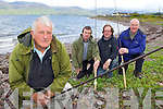 Kerry Anglers who are concerned with the re-introduction of Salmon netting in Castlemaine Harbour l-r: Liam Timlin, Stuart Stephens, Mike Crowley and Billy Downes
