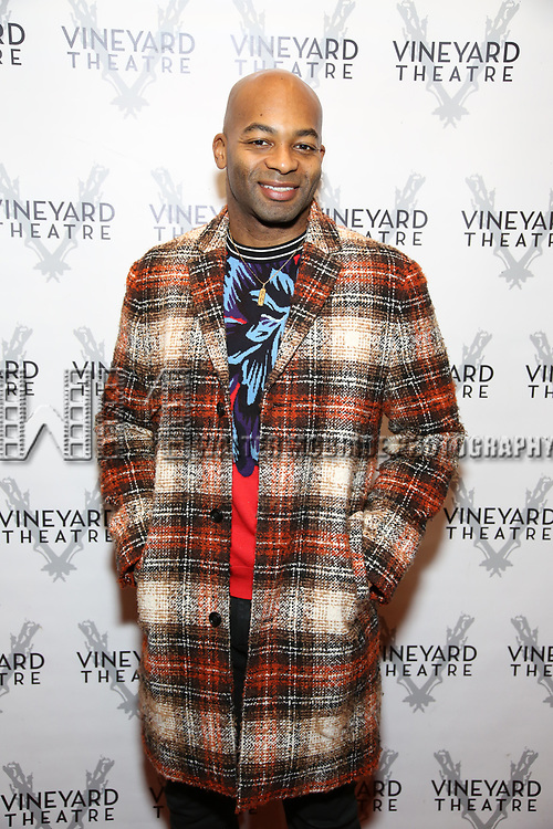 """Brandon Victor Dixon during the Opening Night Celebration for """"Good Grief"""" at the Vineyard Theatre on October 28, 2018 in New York City."""