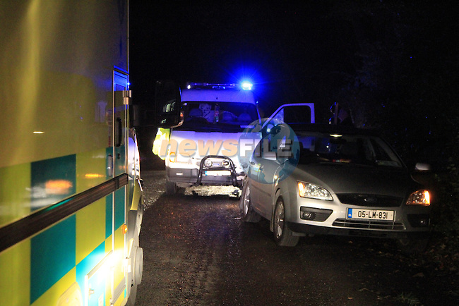 The scene of a two vehicle RTC at Rosnaree on the Slane to Donore Road, 9/9/11.Picture Fran Caffrey www.newsfile.ie