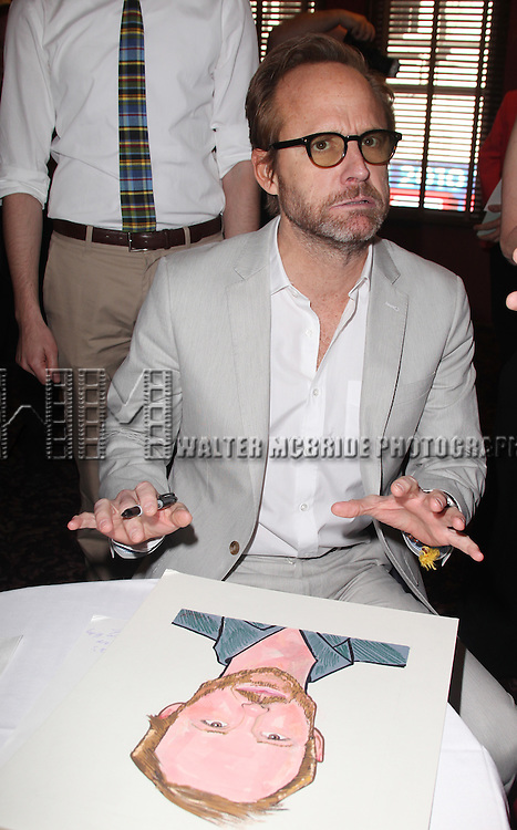 John Benjamin Hickey attends Sardi's unveils Caricatures of 'The Normal Heart' Tony Award Nominees Ellen Barkin, John Benjamin Hickey & Joe Mantello at Sardi's in New York City.