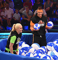 SANTA MONICA, CA - JULY 11: Lindsey Vonn and Rob Gronkowski on the Nickelodeon Kids' Choice Sports 2019 at the Barker Hangar on July 11, 2019 in Santa Monica, California. (Photo by Frank Micelotta/PictureGroup)