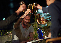 Brand partner David Beckham on set at the filming of the first Haig Club Clubman TV advert - a new Single Grain Scotch Whisky from the House of Haig.<br /> *Editorial Use Only*<br /> CAP/PLF/ MediaPunch