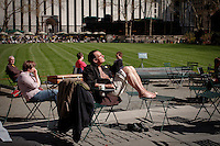 Warmest March on record across half the U.S 3/04/2012. Photo by Kena Betancur / VIEWpress.