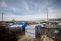 Calais Jungle Camp.<br /> <br /> Under the Sky of Calais &amp; Dunkirk. Two Camps, Two Sides of the Same Coin: Not 'migrants', Not 'refugees', just Humans.<br /> <br /> France, 24-30/03/2016. Documenting (and following) Zekra and her experience in the two French camps at the gate of the United Kingdom: Calais' &quot;Jungle&quot; and Dunkirk's &quot;Grande-Synthe&quot;. Zekra lives in London but she is originally from Basra in Iraq. Zekra and her family had to flee Kuwait - where they moved for working reason - due to the &quot;Gulf War&quot;, and to the Western Countries' will to &quot;export Democracy in Iraq&quot;. Zekra is a self-motivated volunteer and founder of &quot;Happy Ravers&quot;, a group of people (not a NGO or a charity) linked to each other because of their love for rave parties but also men and women who meet up every week to help homeless people and other people in need in Central London. (Here there are some of the stories I covered about Zekra and &quot;Happy Ravers&quot;: http://bit.ly/1XVj1Cg &amp; http://bit.ly/24kcGQz &amp; http://bit.ly/1TY0dPO). Zekra worked as an English teacher in the adult school at Dunkirk's &quot;Grande-Synthe&quot; camp and as a cultural mediator and Arabic translator for two medic teams in Calais' &quot;Jungle&quot;. Please read her story at the beginning of this reportage.