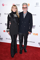 Trevor Eve and wife Sharon Maughan<br /> arriving for the World premiere of &quot;Bees Make Honey&quot; at the Vue West End, Leicester Square, London<br /> <br /> <br /> &copy;Ash Knotek  D3314  23/09/2017