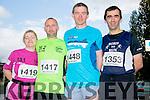 Elish Hughes,David Hughes,Den McCarthy and David Walsh at Tralee Rotary Club 10k Run in aid of the Donal Walsh Foundation on Monday
