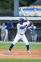 Jonathan McCray (3) of the Burlington Royals at bat against the Bluefield Blue Jays at Burlington Athletic Stadium on June 27, 2016 in Burlington, North Carolina.  The Royals defeated the Blue Jays 9-4.  (Brian Westerholt/Four Seam Images)