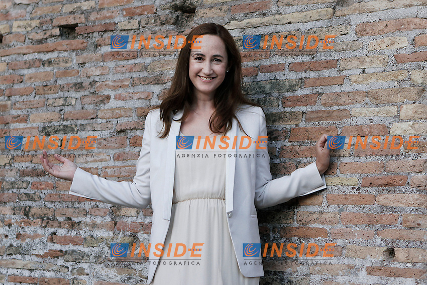 La scrittrice Sophie Kinsella (pseudonimo di Madeleine Wickham).Roma 12/06/2012 Basilica di Massenzio - XI Festival Internazionale delle Letterature di Roma .Foto Serena Cremaschi Insidefoto