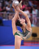 September 11, 2018 - Sofia, Bulgaria - MELINA BALDASSARRI of Italy performs ball routine at 2018 World Championships.