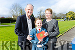 Scoil Eoin Balloonagh held a mass for parents and grandparents on Thursday. Pictured Megan Rusk and Bernie Conway with teacher Joe McMahon