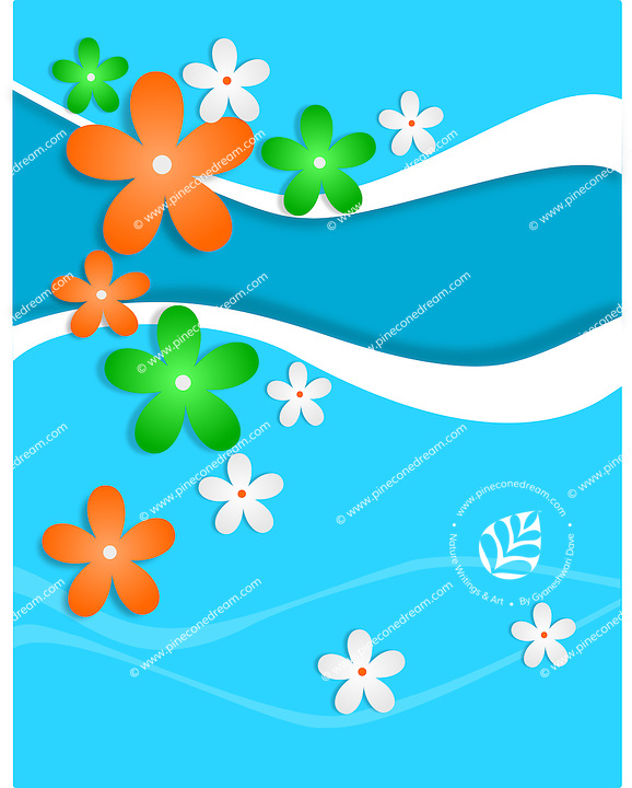 Creative artistic vector background with flowers of Indian national flag colors,banner.<br />