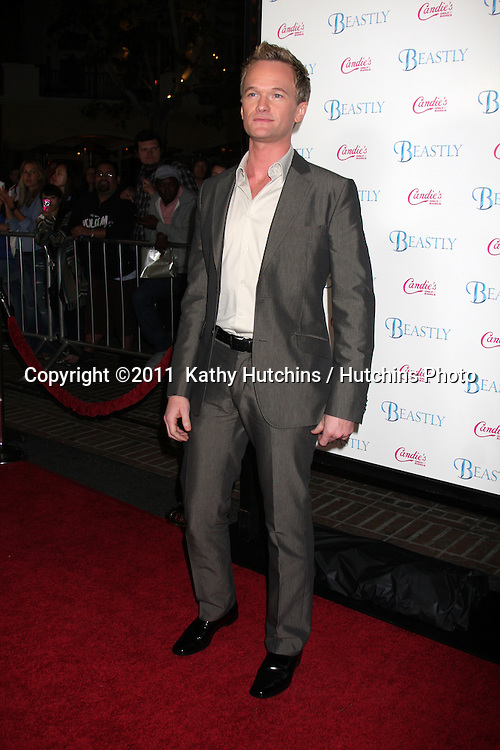 "LOS ANGELES - FEB 24:  Neil Patrick Harris arrives at the ""Beastly"" Premiere at Pacific Theaters at The Grove on February 24, 2011 in Los Angeles, CA"