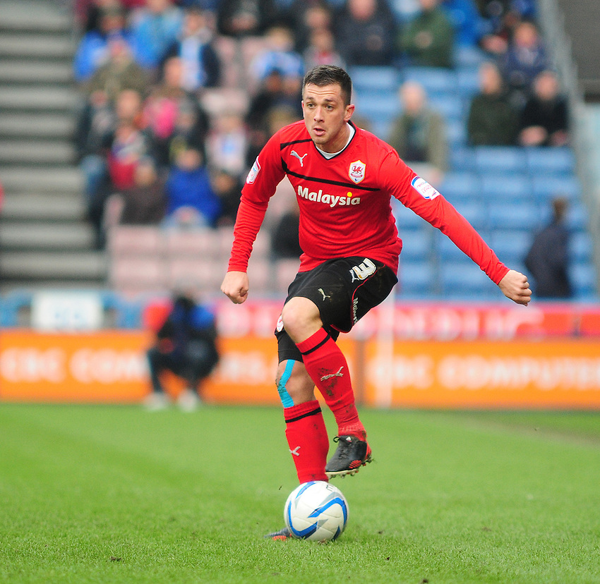 Cardiff City's Andrew Taylor ..Football - npower Football League Championship - Huddersfield Town v Cardiff City  - Saturday 9th February 2013 - John Smith's Stadium - Huddersfield..