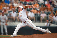 Pitcher Sam Stafford #19 of the Texas Longhorns delivers against the Oklahoma Sooners in NCAA Big XII baseball on May 1, 2011 at Disch Falk Field in Austin, Texas. (Photo by Andrew Woolley / Four Seam Images)