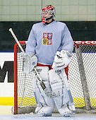 Filip Novotny (Czech Republic - 1) - Team Czech Republic practiced at the Urban Plains Center in Fargo, North Dakota, on Saturday, April 18, 2009 in the morning prior to their final match against Sweden during the 2009 World Under 18 Championship.