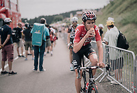 Tiesj Benoot (BEL/Lotto-Soudal) rolling in after the stage<br /> <br /> 104th Tour de France 2017<br /> Stage 8 - Dole &rsaquo; Station des Rousses (187km)