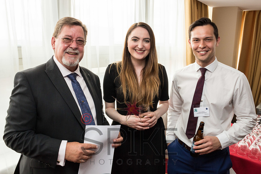 Pictured from left are Graham Gibson of Cloud Cars, Emily Kelly and James Vjestica, both of Cartwright King