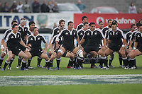 New Zealand perform the Haka before the U19 Final clash against South Africa at Ravenhill, Belfast.
