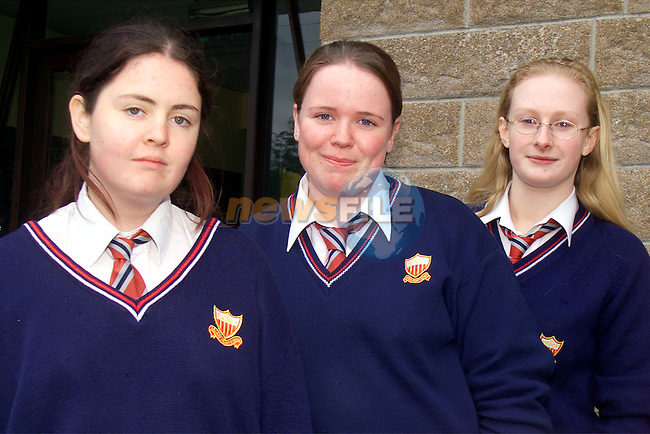 Melissa Govers, Cherrymount, Claire Rooney and Kate Ducie, Meadow View, students from Sacred Heart school who are sittig their leaving cert at the moment..Picture: Arthur Carron/Newsfile